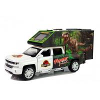 Inlea4Fun DINOSAUR WORLD Auto dinosaurus se světelnými a zvukovými efekty - bílé