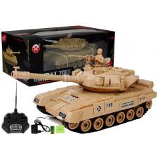 Inlea4Fun RC COMBAT ZONE Tank na dálkové ovládání 1:28 - krémový Preview