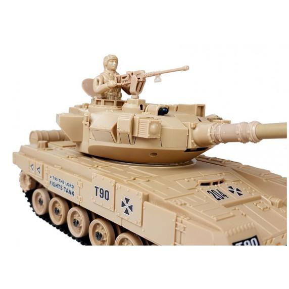 Inlea4Fun RC COMBAT ZONE Tank na dálkové ovládání 1:28 - krémový
