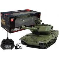 Inlea4Fun RC COMBAT ZONE Tank na dálkové ovládání 1:28 - zelený