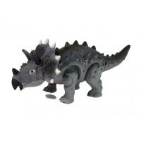 Dinosaurus figurka na baterie - Triceratops Inlea4Fun - šědý