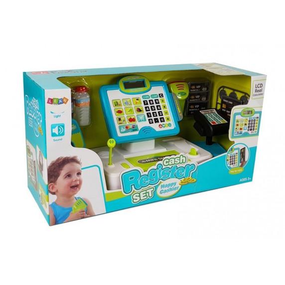 Dětská pokladna Inlea4Fun CASH REGISTER - zelená / modrá