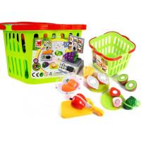 Nákupní košík se zeleninou na krájení a váhou Inlea4Fun LIMA No.686