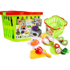 Inlea4Fun LIMA No.686 Nákupní košík se zeleninou na krájení a váhou