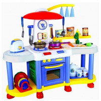 Inlea4Fun FUNNY KITCHENSET Interaktivní kuchyňka - modrá