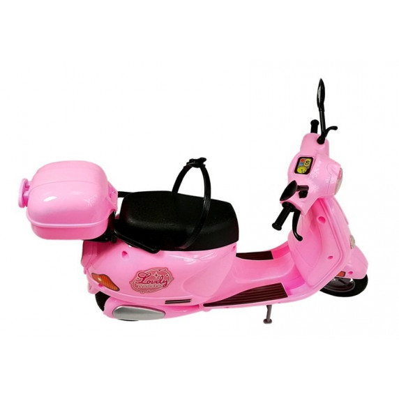 Růžový kabriolet s panenkou FASHION MOTORCYCLE Inlea4Fun