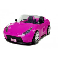 Inlea4Fun FASHION TRAVEL Růžové autíčko kabriolet pro panenky 34 cm