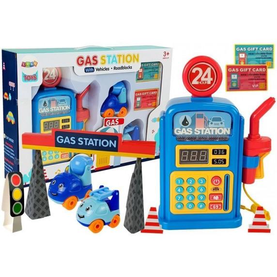 Interaktivní čerpací stanice s autíčky Inlea4Fun GAS STATION