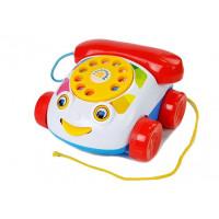 Dětský klasický pevný telefon s kolečky Inlea4Fun PUZZLE PHONE