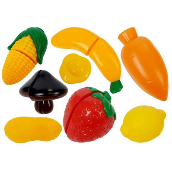 Dětské nádobí s doplňky Inlea4Fun DREAM KITCHEN - modrý / žlutý