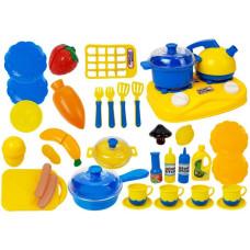 Dětské nádobí s doplňky Inlea4Fun DREAM KITCHEN - modrý / žlutý Preview