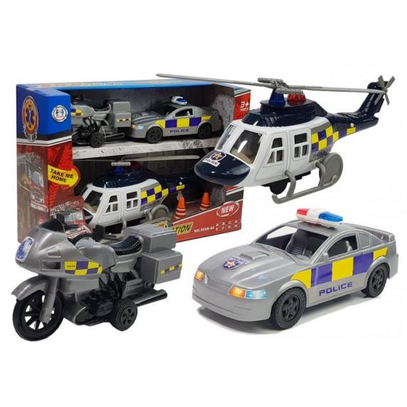 Inlea4Fun SOS STATION Sada policejních vozidel