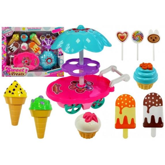 Inlea4Fun SWEET Treats Vozík se sladkostmi a zmrzlinou