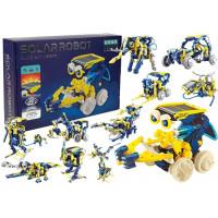 Inlea4Fun BUILD AND LEARN Solární robot 11 v 1 - žlutý