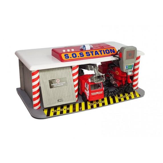 Inlea4Fun SOS STATION Hasičská stanice s příslušenstvím