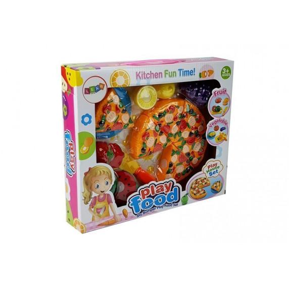 Sada na krájení - pizza a ovoce Inlea4Fun PLAY FOOD