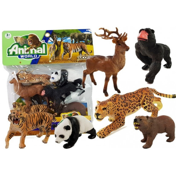 Inlea4Fun ANIMAL WORLD Sada zvířátek - 6 ks