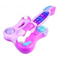 Inlea4Fun Dinamic Interaktivní kytara s klavírem - růžová