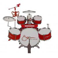 Inlea4Fun JAZZ DRUM Dětské bicí s klávesami - červené