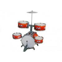 Dětské bicí JAZZ DRUM NO.2008E-1 Inlea4Fun - červené