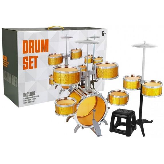 Inlea4Fun DRUM SET Dětské bicí - zlaté
