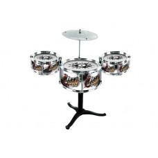 Inlea4Fun JAZZ DRUM Dětské bicí - stříbrné Preview