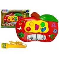 Dětské elektronické klávesy Inlea4Fun MUSIC PIANO - Jablko