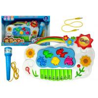 Dětské elektronické klávesy Inlea4Fun MUSIC PIANO - Květiny