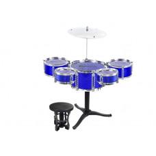 Inlea4Fun JAZZ DRUM Detské bicí - modré Preview
