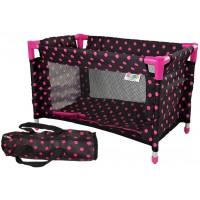 Postýlka pro panenky Inlea4Fun - černo-růžová
