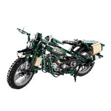 Inlea4Fun dětech Stavebnice vojenská motorka 550 ks Preview
