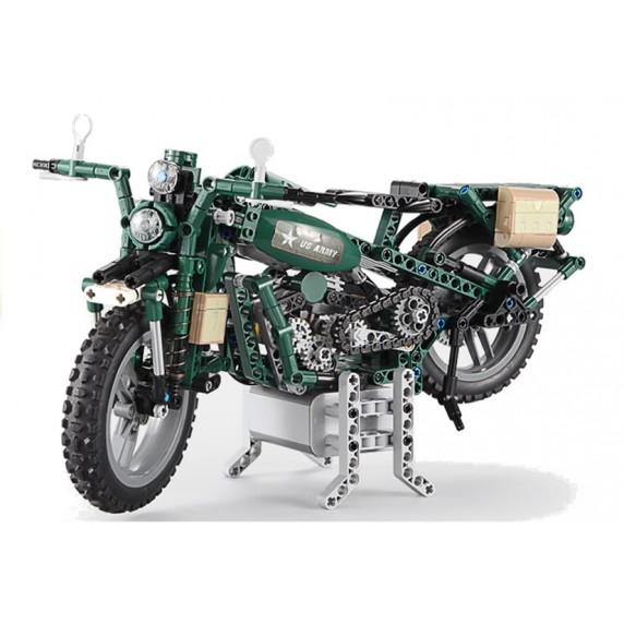 Inlea4Fun dětech Stavebnice vojenská motorka 550 ks