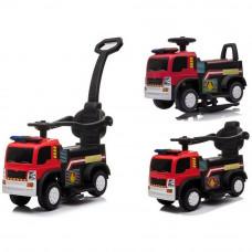 Inlea4Fun Hasiči JC008 dětské odrážedlo a elektrické autíčko 3v1 - červené Preview