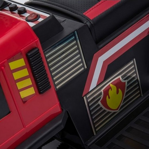 Inlea4Fun Hasiči JC008 dětské odrážedlo a elektrické autíčko 3v1 - červené