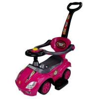 Inlea4Fun Dětské odrážedlo Super Ride 3 v 1 - růžové
