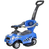 Dětské hrající odrážedlo Inlea4Fun 3v1 COUPE - modrá