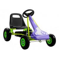 Inlea4Fun SPEED 75 Gokart s pedály - fialový / zelený