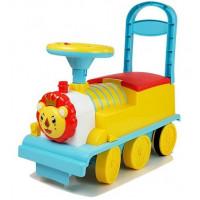Dětské elektrické odrážedlo - lokomotiva s lvíčkem  Inlea4Fun DEARBONG