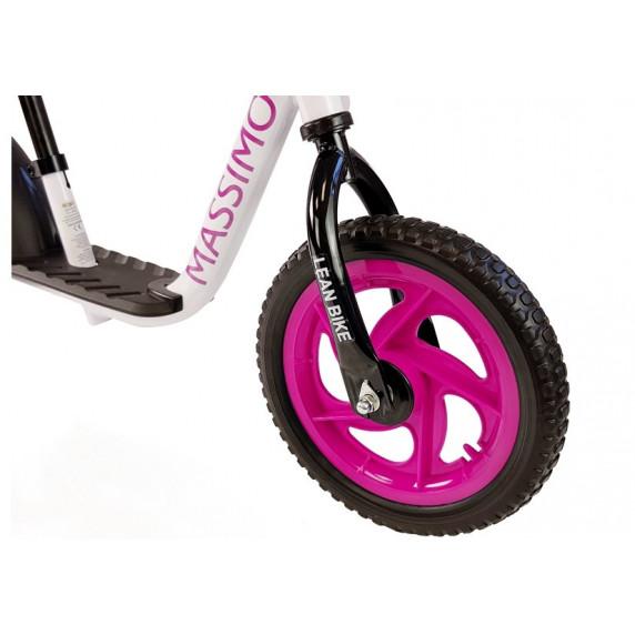 Dětské cykloodrážedlo Inlea4Fun MASSIMO - bílo-růzové