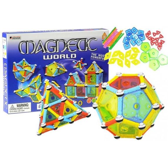 Magnetická stavebnice 110 ks Inlea4Fun MAGNETIC WORLD