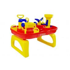 Pískoviště na stolku 2v1 Inlea4Fun BATH WORLD - červené / žluté Preview