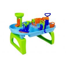 Pískoviště na stolku 2v1 Inlea4Fun WATER FUN - zelené/modré Preview