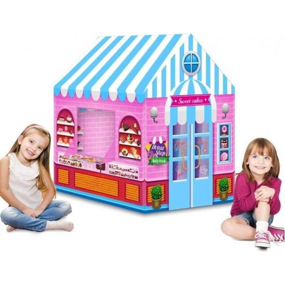 Inlea4Fun Dětský rozkládací stan - cukrárna