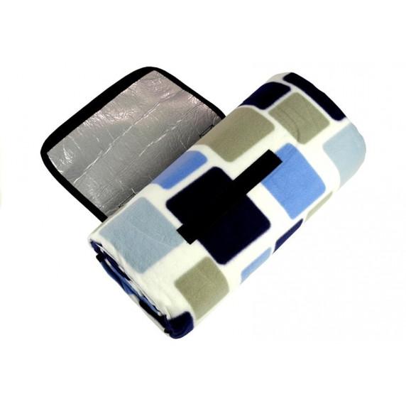 Ingarden Pikniková deka 150x200 cm - modrá a bílá izolace