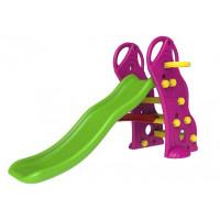 Ingarden dětská zahradní skluzavka + basketbalový koš 2v1 - fialova
