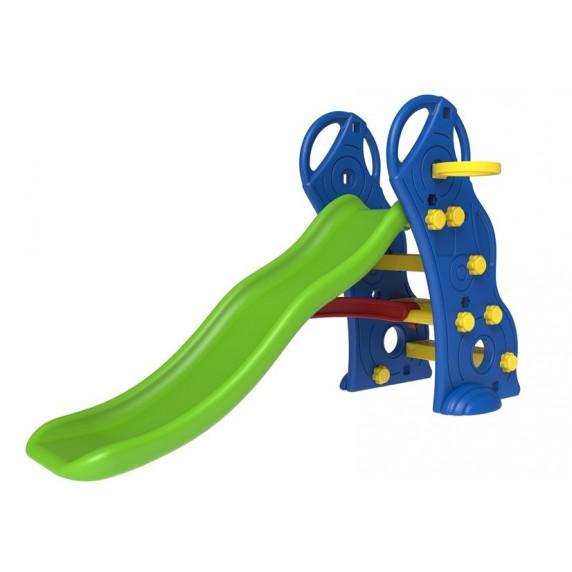 Ingarden dětská zahradní skluzavka + basketbalový koš 2v1 - modrá