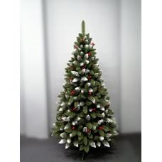 Inlea4Fun zasněžený vánoční stromek IZA 150 cm s červenými bobulemi + stojan Preview