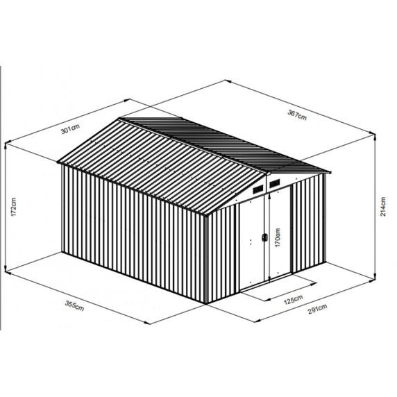 Zahradní domek MAXTOR 1012 antracit
