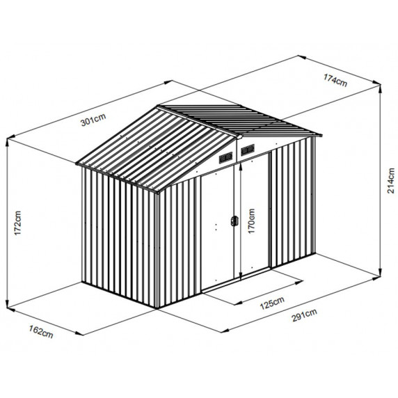 Zahradní domek MAXTOR 106 antracit