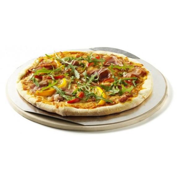 Kámen na pizzu s hliníkovým podnosem a kráječem BBQ Line AE501